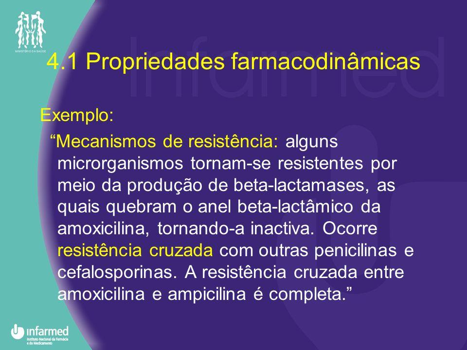 4.1 Propriedades farmacodinâmicas