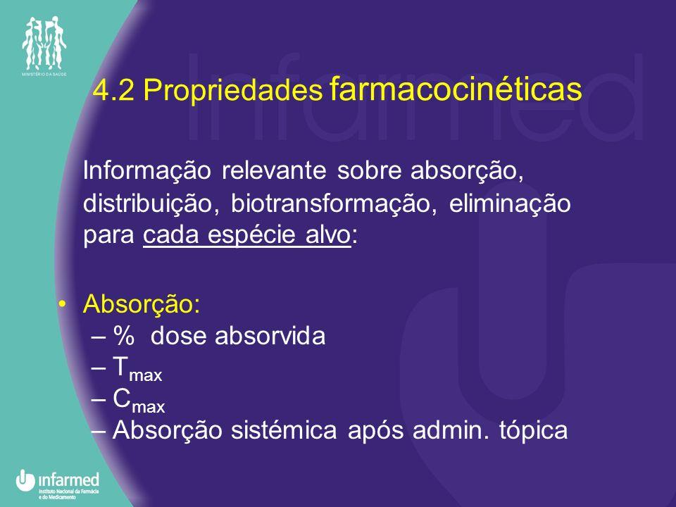 4.2 Propriedades farmacocinéticas