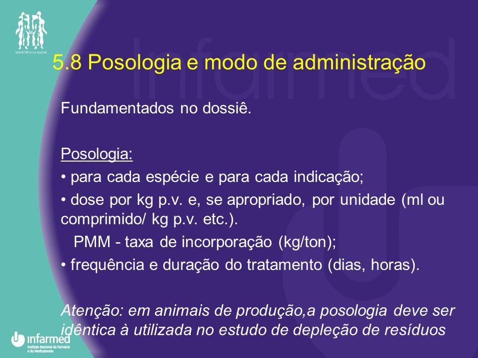 5.8 Posologia e modo de administração