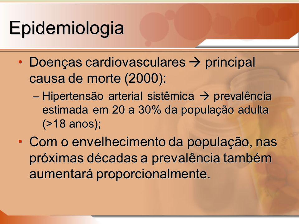 Epidemiologia Doenças cardiovasculares  principal causa de morte (2000):