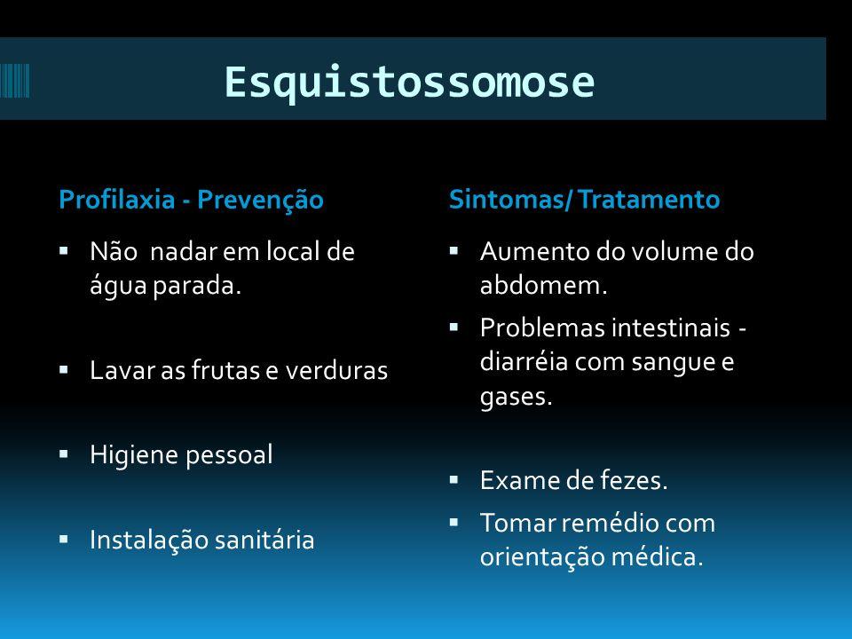 Esquistossomose Profilaxia - Prevenção Sintomas/ Tratamento
