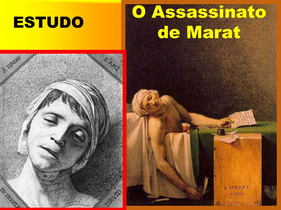 O Assassinato de Marat ESTUDO