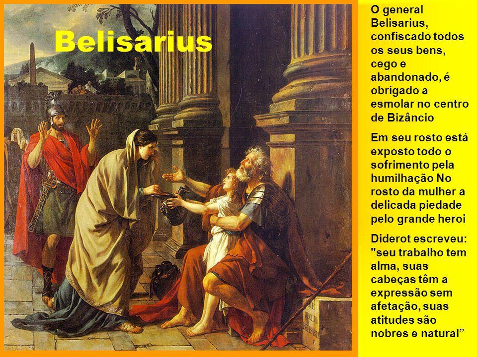 O general Belisarius, confiscado todos os seus bens, cego e abandonado, é obrigado a esmolar no centro de Bizâncio