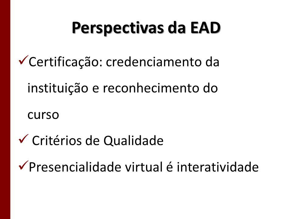 Perspectivas da EAD Certificação: credenciamento da