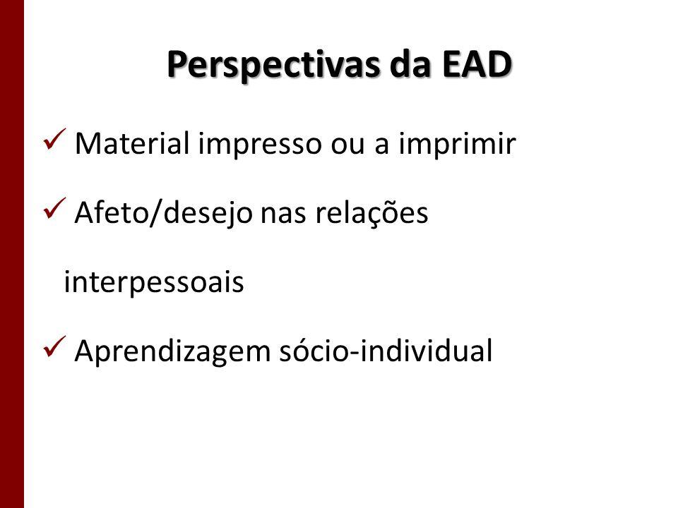 Perspectivas da EAD Material impresso ou a imprimir