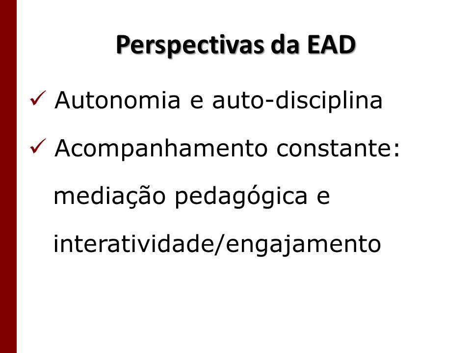 Perspectivas da EAD Autonomia e auto-disciplina