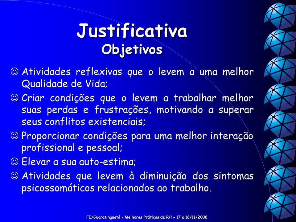 Justificativa Objetivos