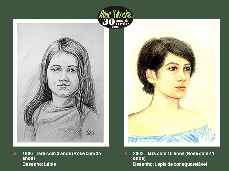 ++ ++ 1996 – Iara com 3 anos (Rose com 35 anos) Desenho: Lápis