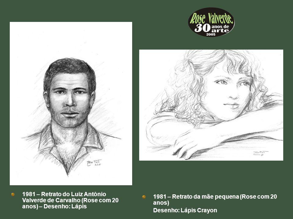 1981 – Retrato do Luiz Antônio Valverde de Carvalho (Rose com 20 anos) – Desenho: Lápis