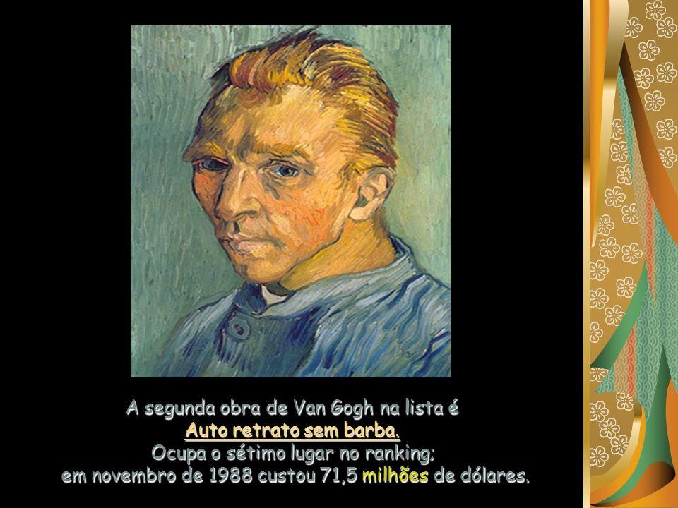 A segunda obra de Van Gogh na lista é Auto retrato sem barba.