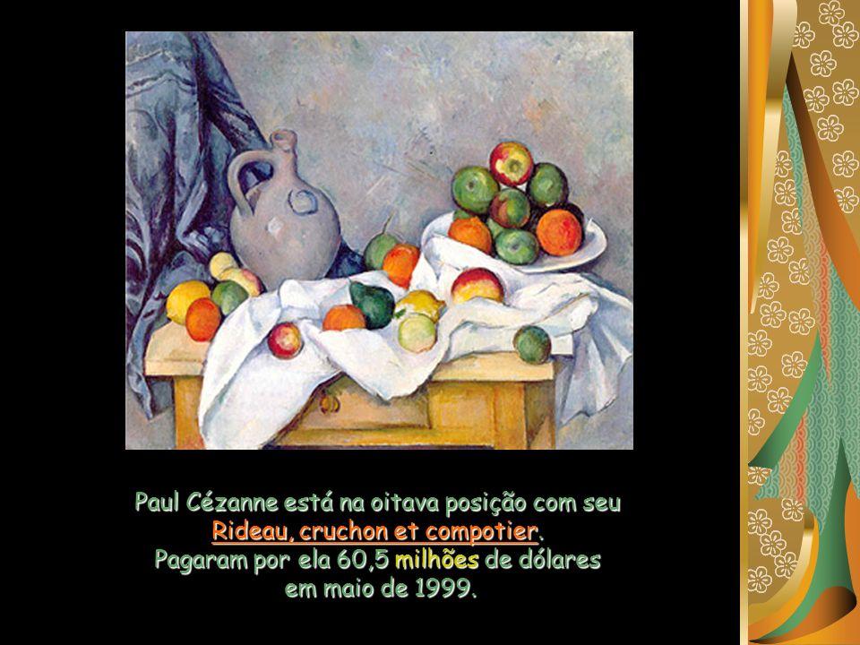 Paul Cézanne está na oitava posição com seu