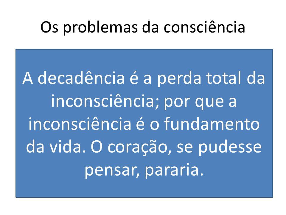 Os problemas da consciência