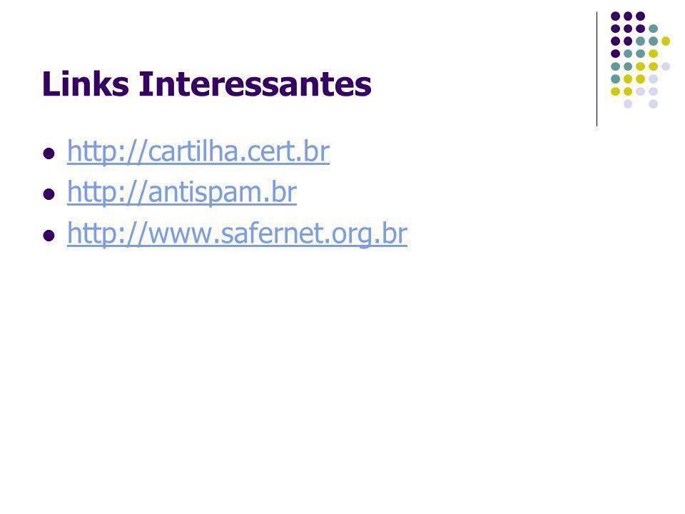 Links Interessantes http://cartilha.cert.br http://antispam.br
