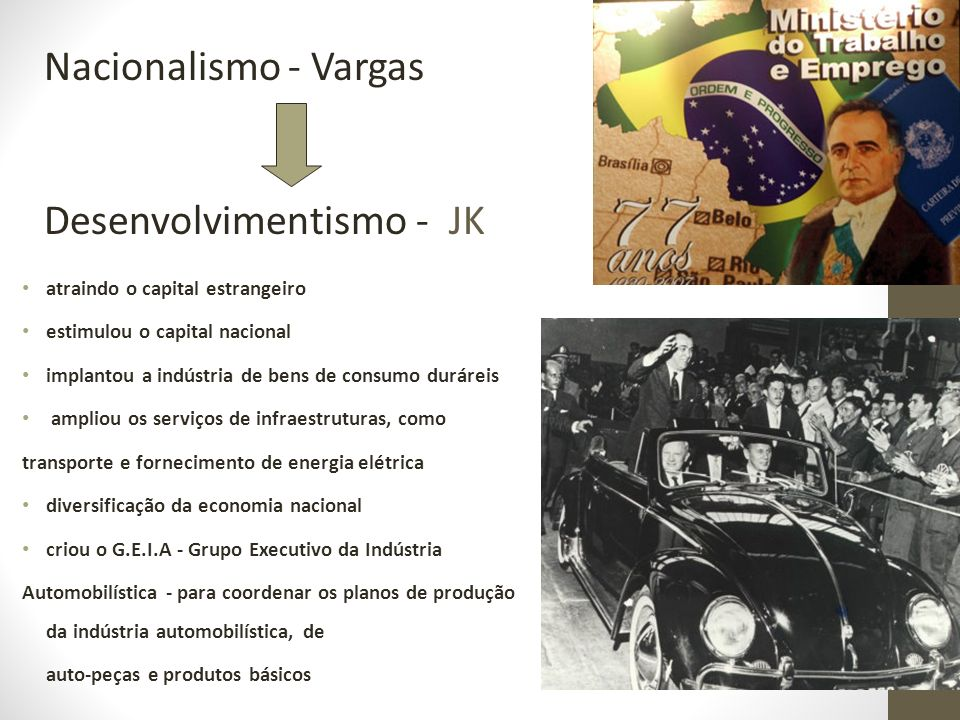 Desenvolvimentismo - JK