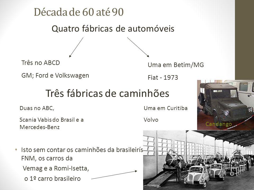 Três fábricas de caminhões