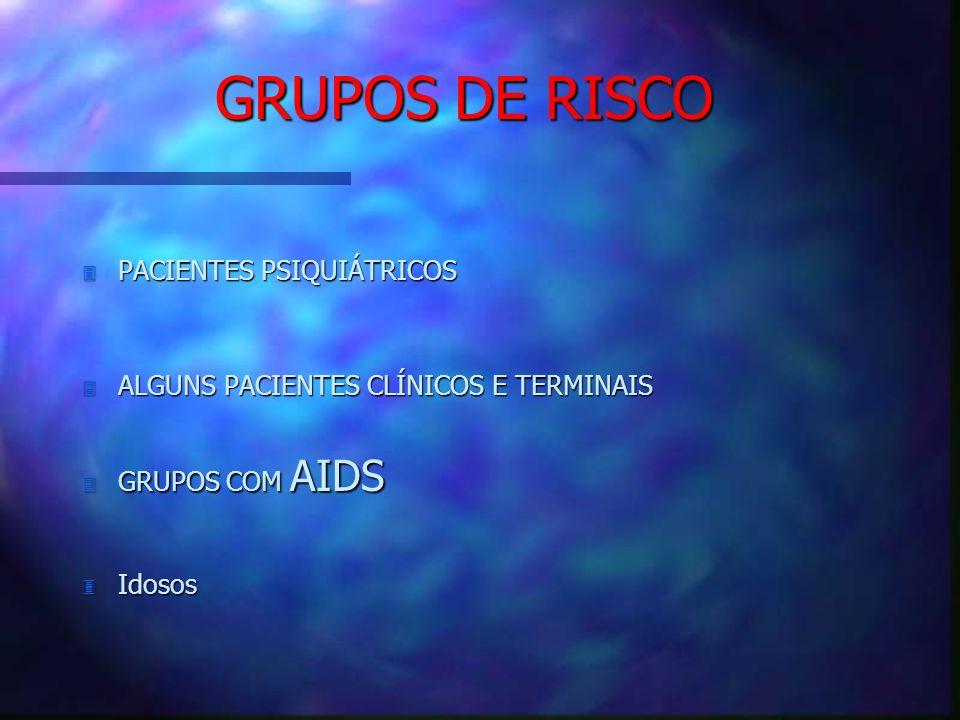 GRUPOS DE RISCO PACIENTES PSIQUIÁTRICOS