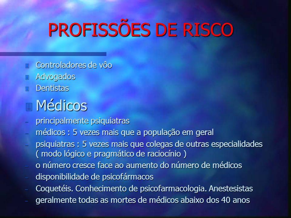 PROFISSÕES DE RISCO Médicos Controladores de vôo Advogados Dentistas