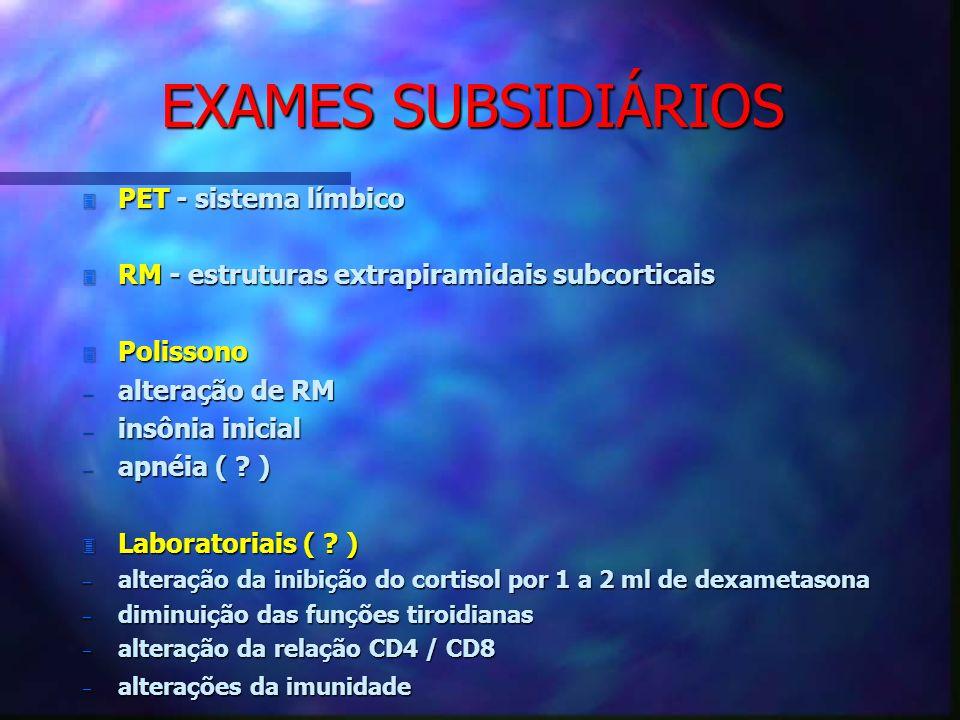 EXAMES SUBSIDIÁRIOS PET - sistema límbico