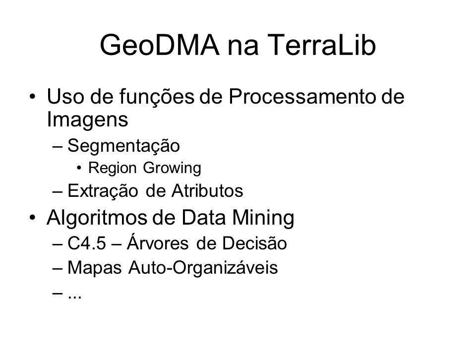 GeoDMA na TerraLib Uso de funções de Processamento de Imagens
