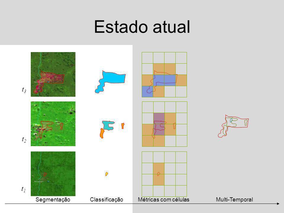 Estado atual t3 t2 t1 Segmentação Classificação Métricas com células