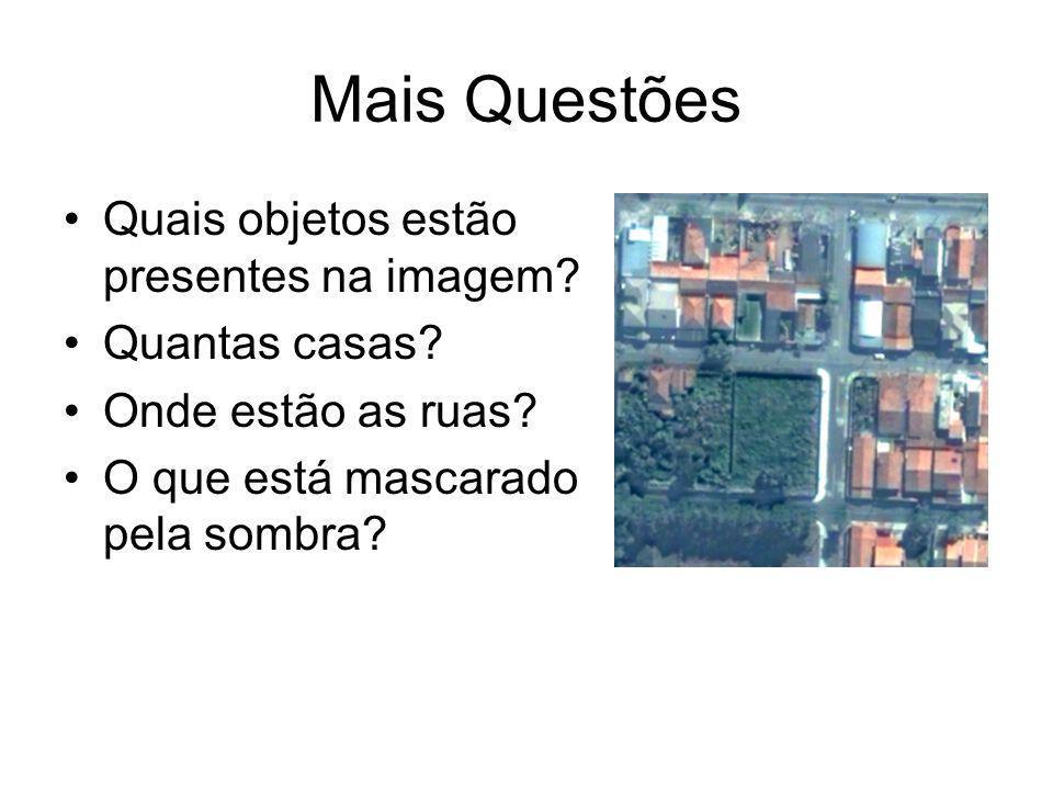 Mais Questões Quais objetos estão presentes na imagem Quantas casas