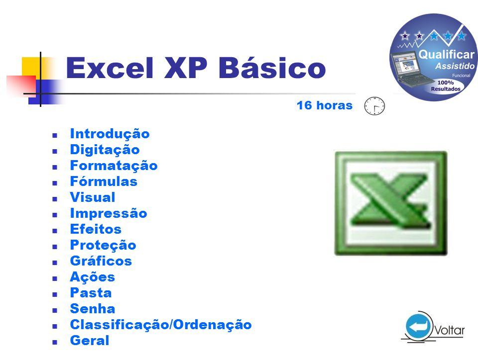 Excel XP Básico Introdução Digitação Formatação Fórmulas Visual