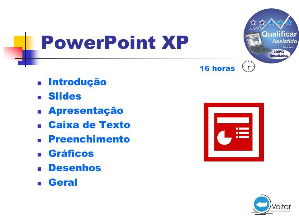 PowerPoint XP Introdução Slides Apresentação Caixa de Texto