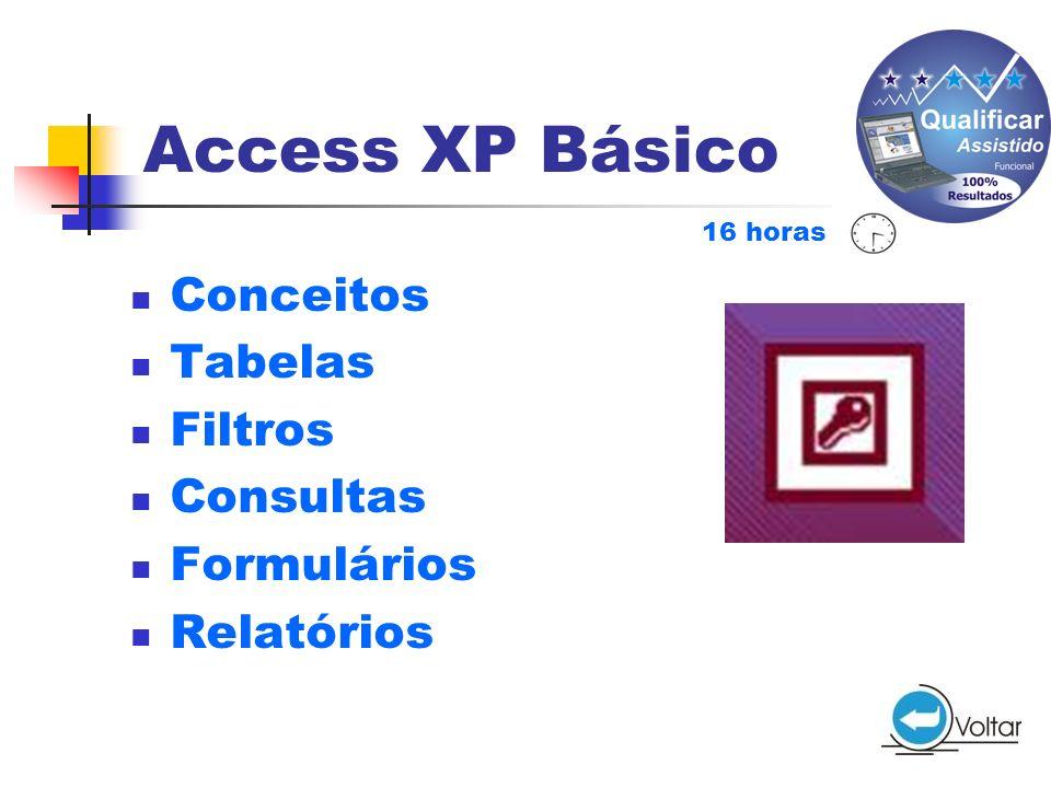 Access XP Básico Conceitos Tabelas Filtros Consultas Formulários