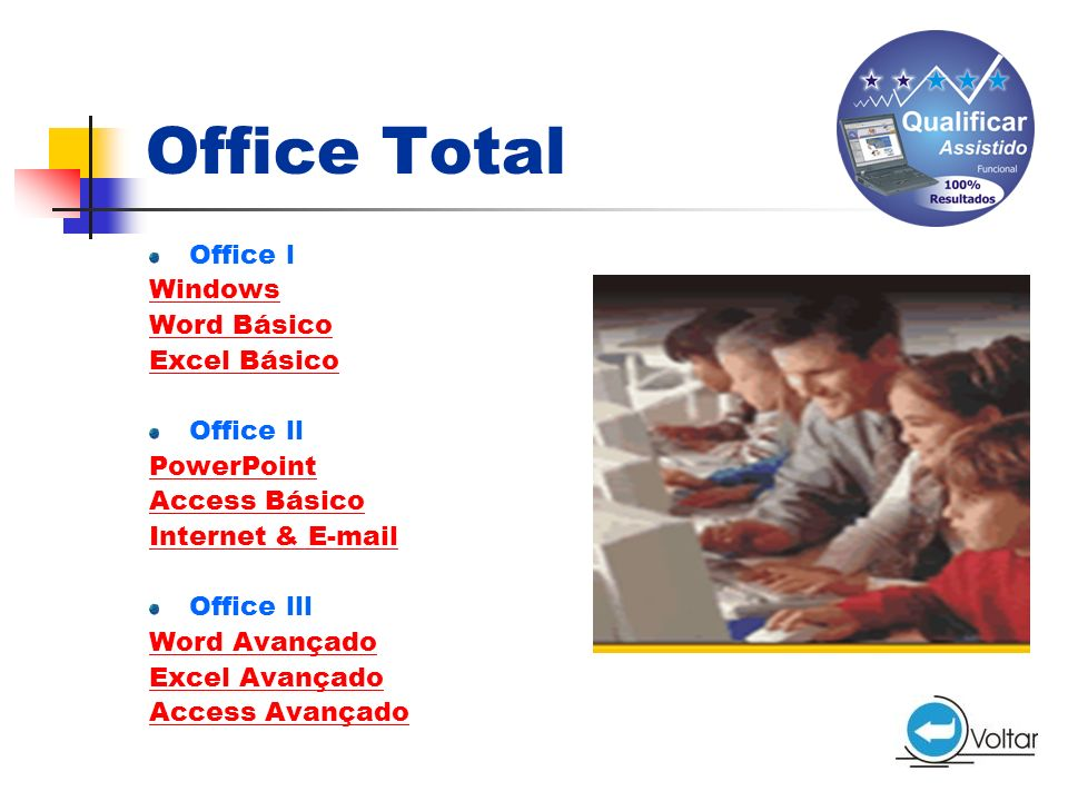 Office Total Office l Windows Word Básico Excel Básico Office ll