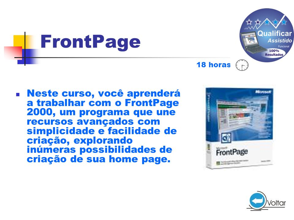 FrontPage 18 horas.