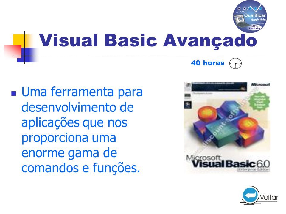 Visual Basic Avançado 40 horas.