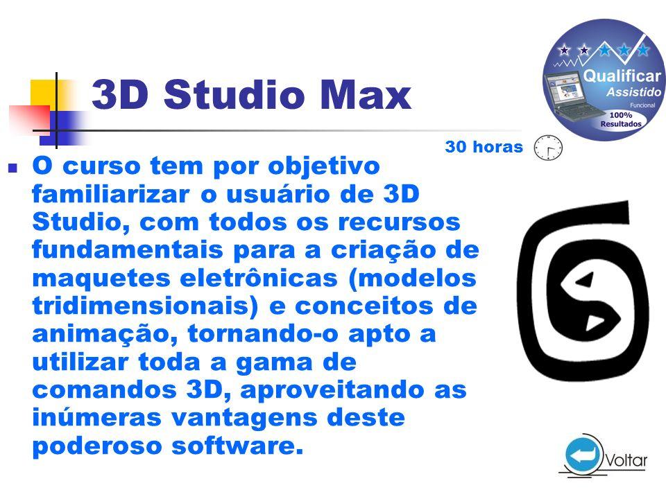 3D Studio Max 30 horas.