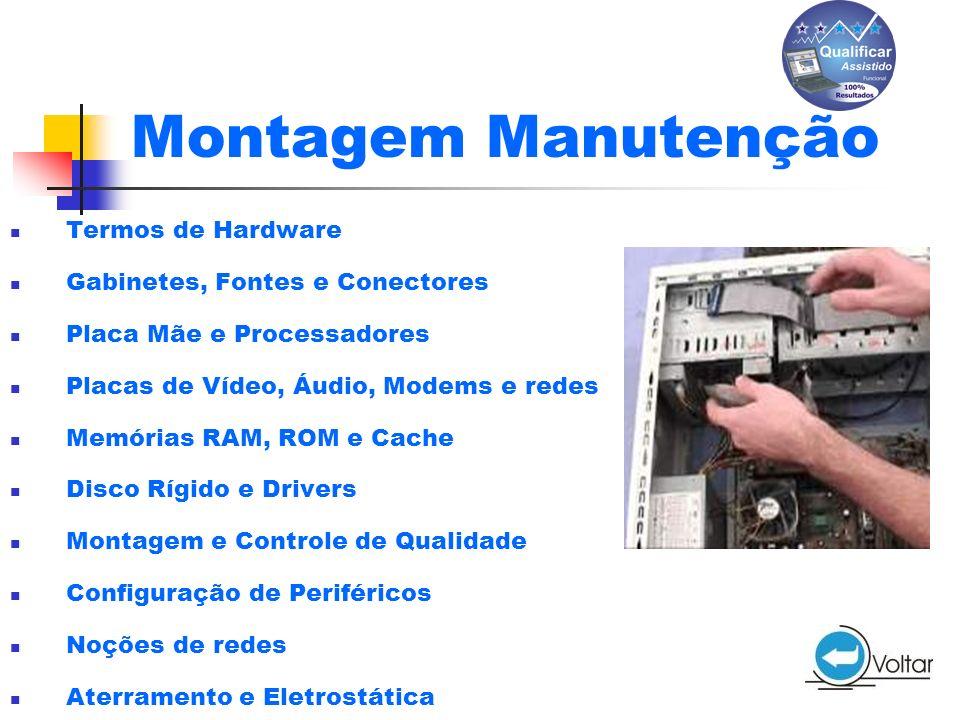Montagem Manutenção Termos de Hardware Gabinetes, Fontes e Conectores