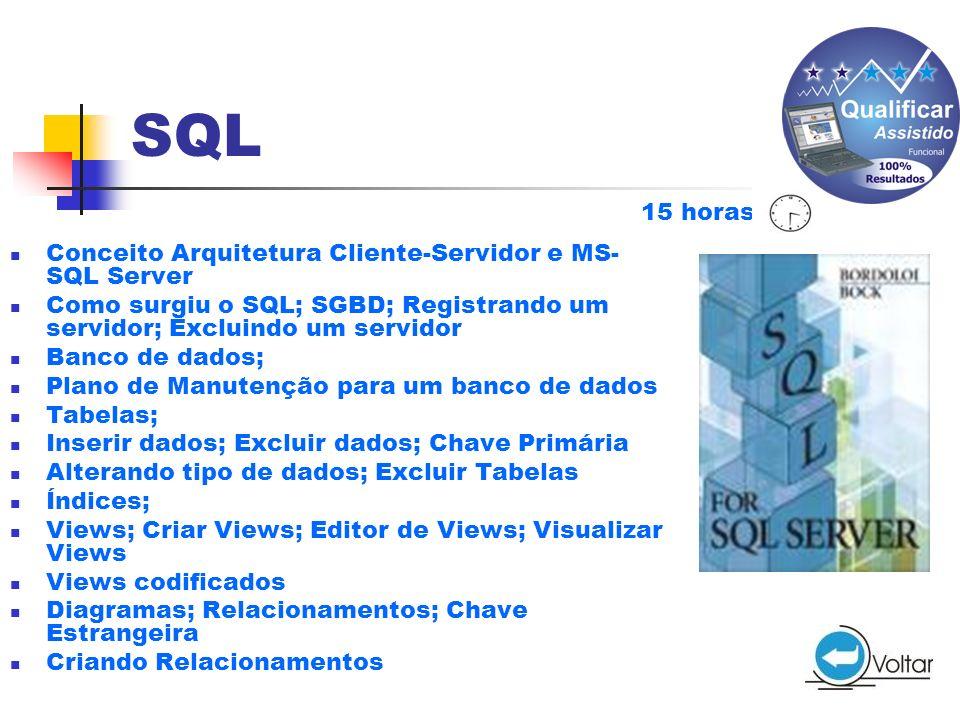 SQL 15 horas Conceito Arquitetura Cliente-Servidor e MS-SQL Server