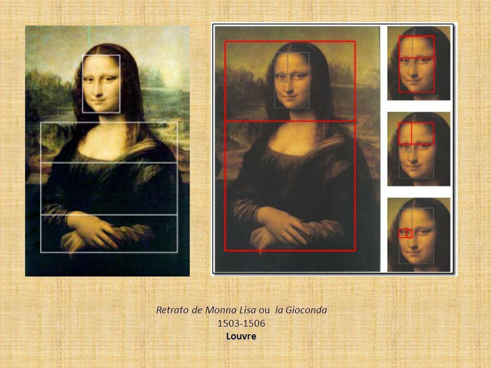 Retrato de Monna Lisa ou la Gioconda 1503-1506 Louvre