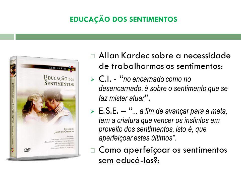 EDUCAÇÃO DOS SENTIMENTOS