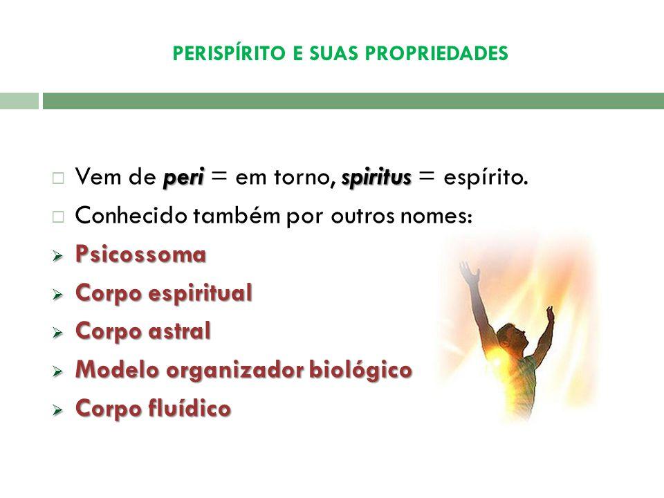 PERISPÍRITO E SUAS PROPRIEDADES
