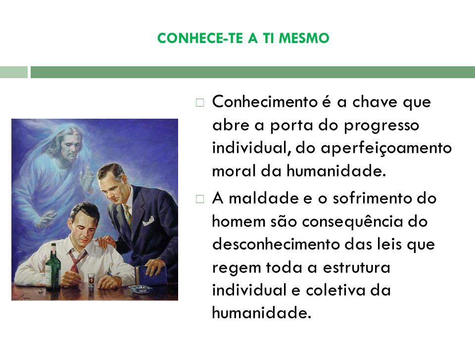 CONHECE-TE A TI MESMO Conhecimento é a chave que abre a porta do progresso individual, do aperfeiçoamento moral da humanidade.