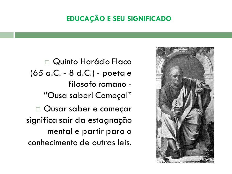 EDUCAÇÃO E SEU SIGNIFICADO