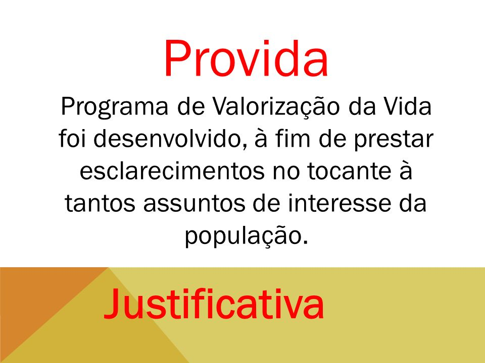 Provida Justificativa