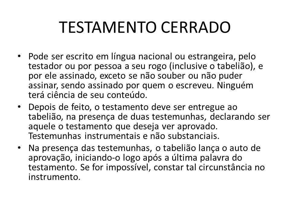 TESTAMENTO CERRADO