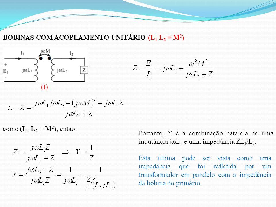 BOBINAS COM ACOPLAMENTO UNITÁRIO (L1 L2 = M2)