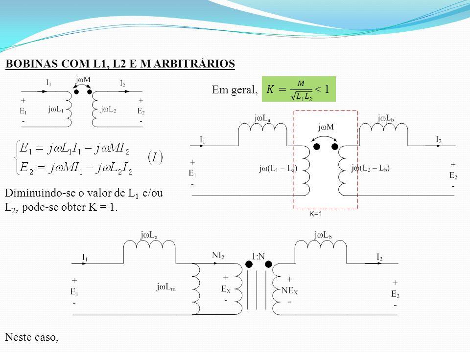 BOBINAS COM L1, L2 E M ARBITRÁRIOS