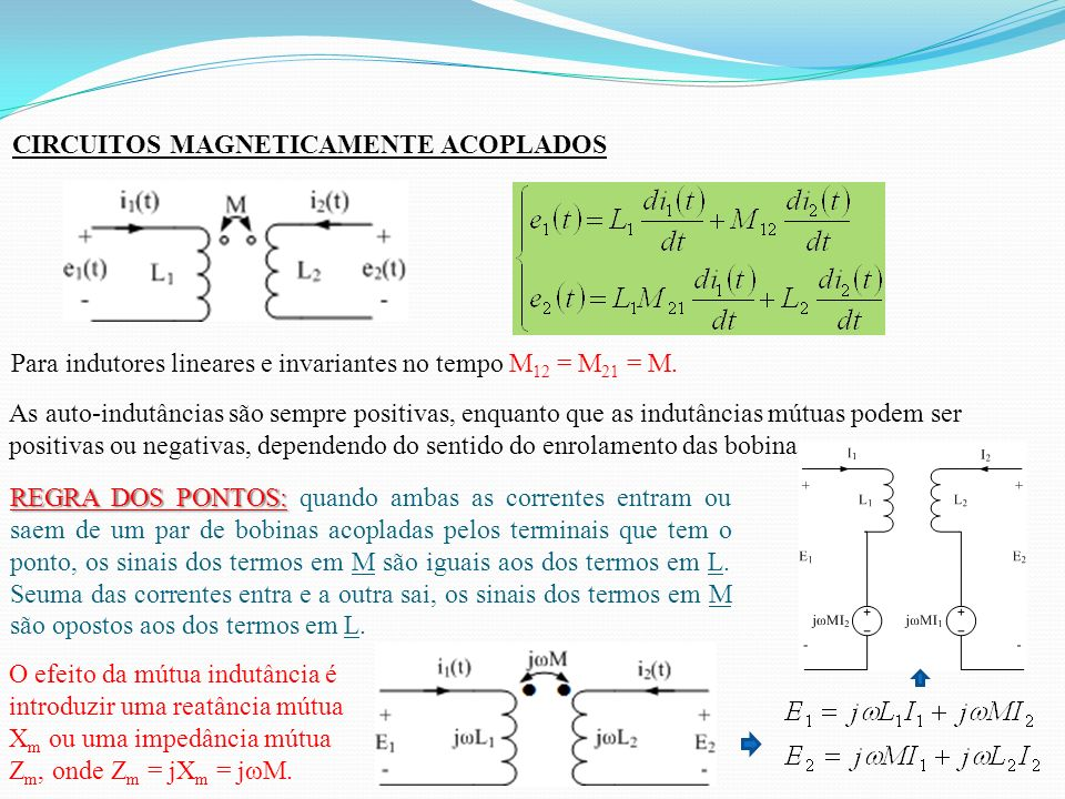 CIRCUITOS MAGNETICAMENTE ACOPLADOS