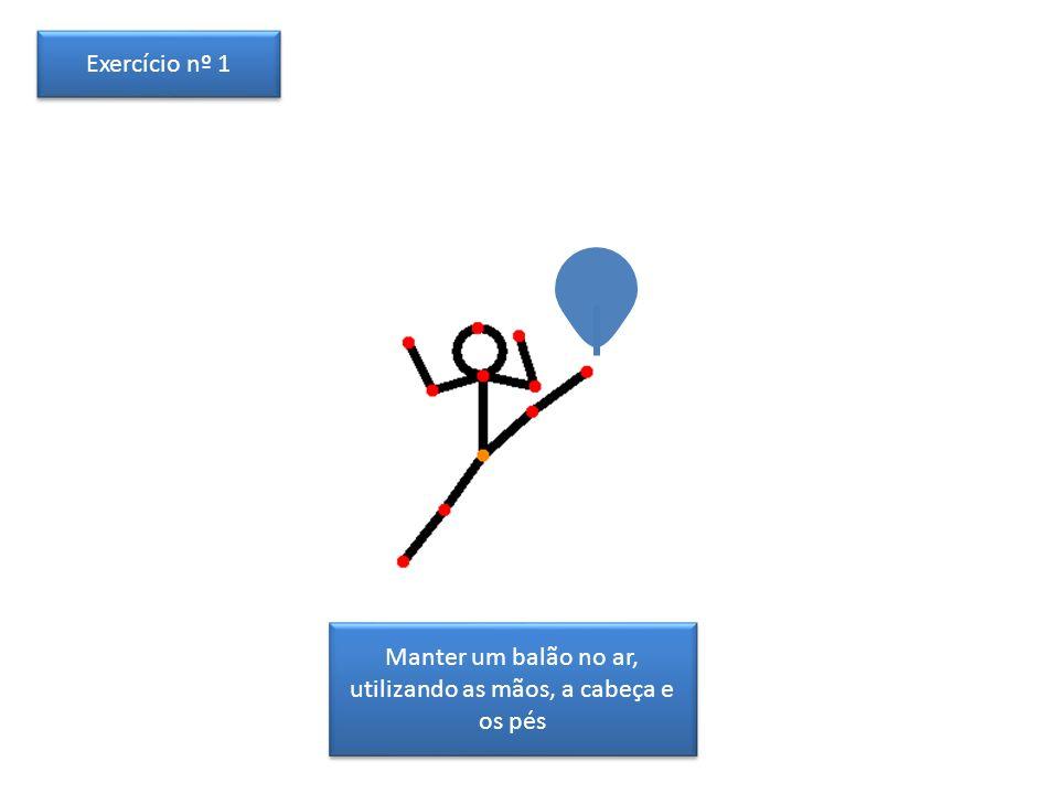 Manter um balão no ar, utilizando as mãos, a cabeça e os pés