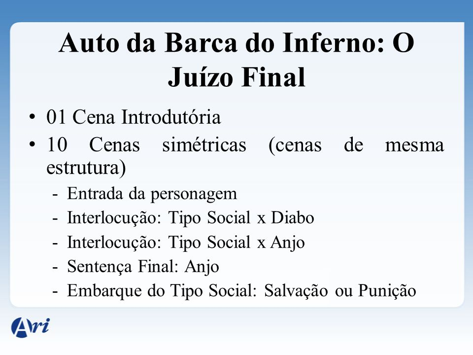 Auto da Barca do Inferno: O Juízo Final