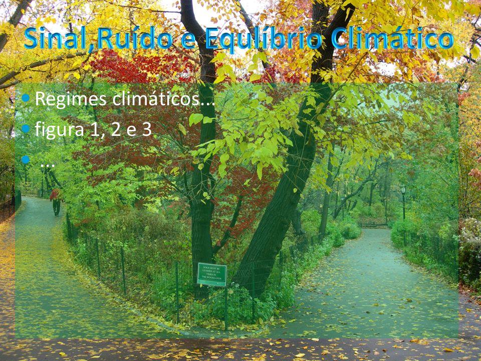 Sinal,Ruído e Equlíbrio Climático