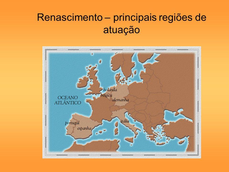 Renascimento – principais regiões de atuação