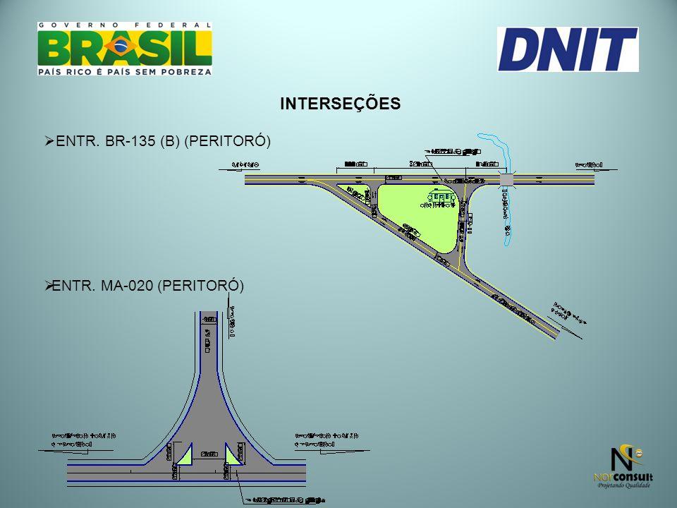 INTERSEÇÕES ENTR. BR-135 (B) (PERITORÓ) ENTR. MA-020 (PERITORÓ)