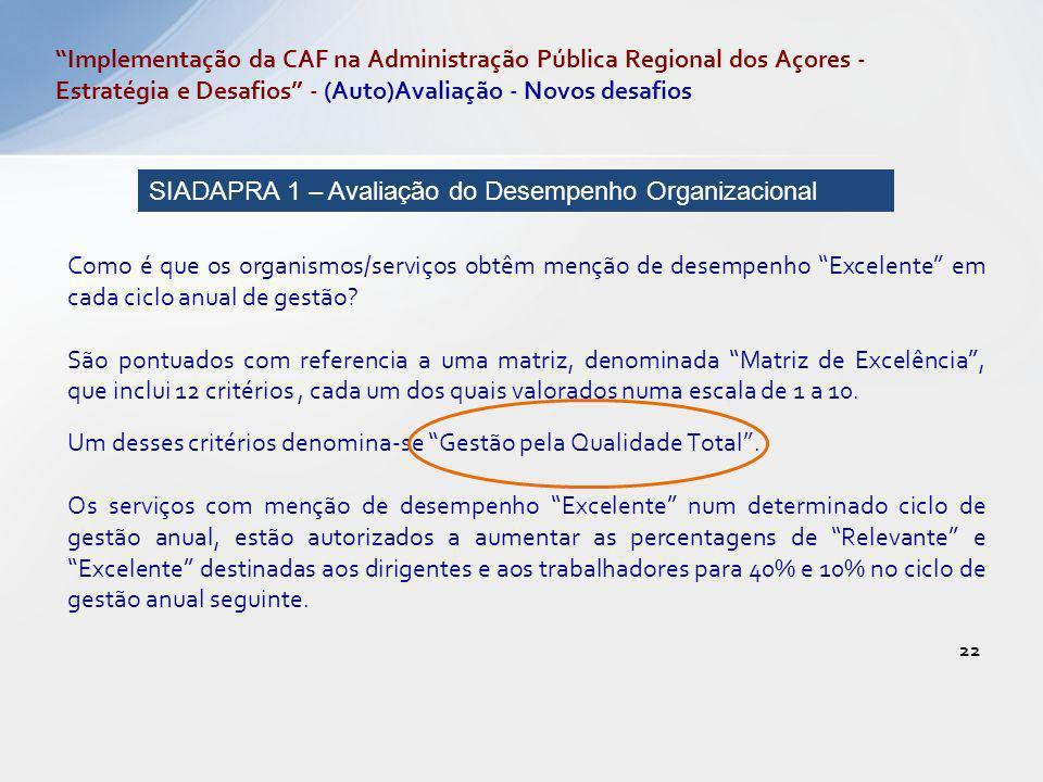 Implementação da CAF na Administração Pública Regional dos Açores - Estratégia e Desafios - (Auto)Avaliação - Novos desafios